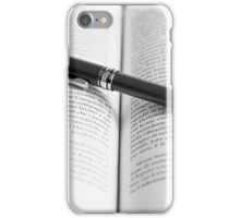 Pen on book iPhone Case/Skin