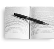 Pen on book Canvas Print