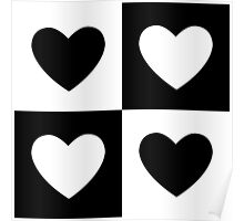 Heart in Black and White Poster