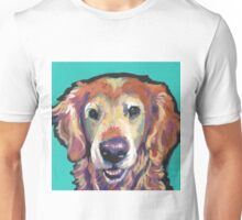 Senior Golden Retriever Dog Bright colorful pop dog art Unisex T-Shirt