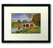 Spring at compton Verney Framed Print