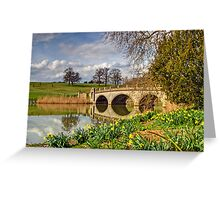 Spring at compton Verney Greeting Card