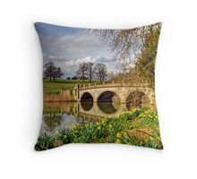 Spring at compton Verney Throw Pillow