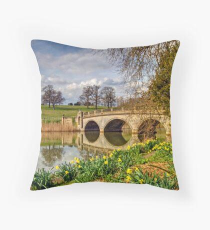 Spring at compton Verney Throw Pillow