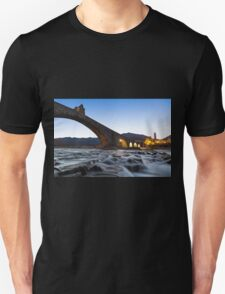 Old bridge over the river Unisex T-Shirt