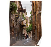 Coffee in Catania, Sicily Poster