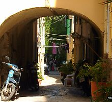 The Streets of Corfu by Hazel Dean