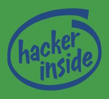 Hacker Inside Kids Clothes