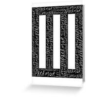Paramore Logo Greeting Card