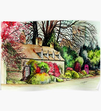 Country Cottage Yorkshire England Poster