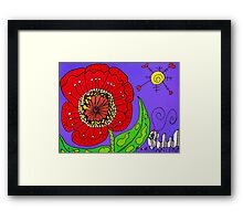 Red Flowers Grow In Mo's Garden Framed Print
