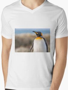 King Penguin Mens V-Neck T-Shirt