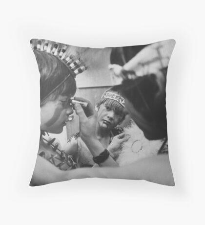 Three kids Throw Pillow