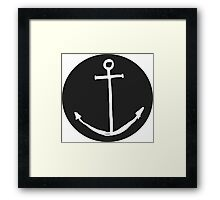 Round Minimal Anchor - Cool case for laptop & phone Available Framed Print