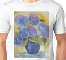 The blue hydrangeas jar Unisex T-Shirt