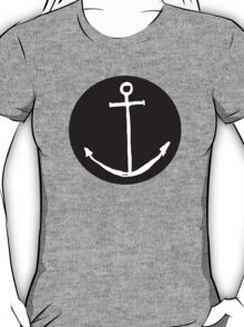 Round Minimal Anchor - Cool case for laptop & phone Available T-Shirt