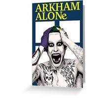 Arkham Alone Greeting Card