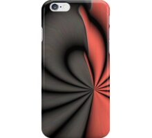 Red and Black Abstract iPhone Case/Skin
