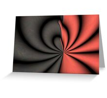 Red and Black Abstract Greeting Card