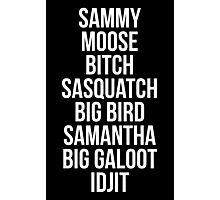 Sam Winchester Supernatural Nicknames Photographic Print