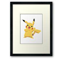 Pikachu Pokemon Simple No Borders Framed Print