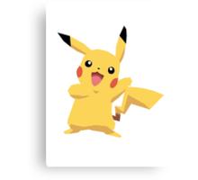 Pikachu Pokemon Simple No Borders Canvas Print