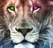 space lion Sticker