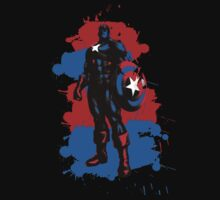 Captain America Paint Splatter by Impala-Designs
