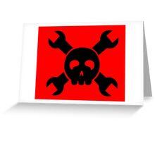 Hacker Skull and Crossbones Greeting Card