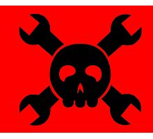 Hacker Skull and Crossbones Photographic Print