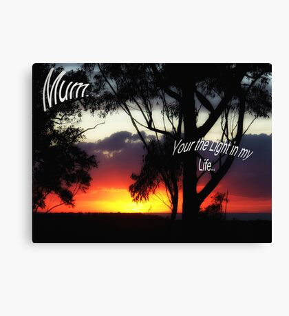 """For Mum"" Canvas Print"