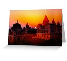Cenotaphs of Orchha. India. Greeting Card