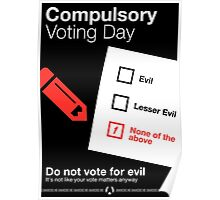 Compulsory Voting Day Poster