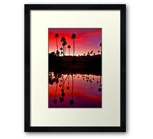 Palm Springs Sunset 2 Framed Print