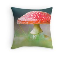 Fungi in the mist Throw Pillow