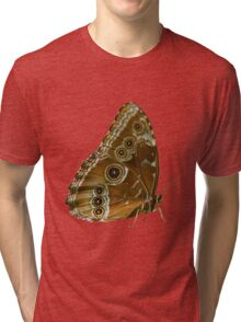 Beautiful Butterfly Wings of Meadow Brown Isolated Tri-blend T-Shirt