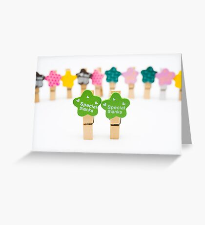 Speacial thanks Greeting Card