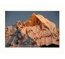 Fishtail mountain Art Print
