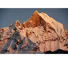 Fishtail mountain Photographic Print