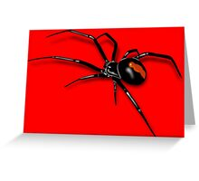 Redback Spider Black Widow Greeting Card