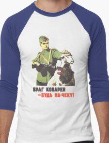 WW2 Soviet Poster Men's Baseball ¾ T-Shirt