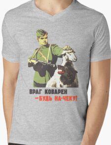 WW2 Soviet Poster Mens V-Neck T-Shirt