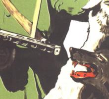WW2 Soviet Poster Sticker