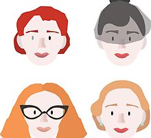 Moira,Shacath,Myrtle and Gloria by JoshCooper