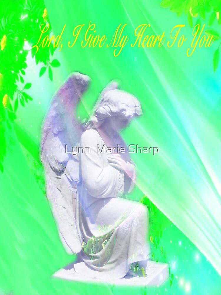Praying In The Garden by Marie Sharp