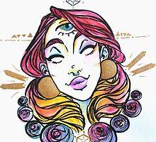 third eye princess watercolor by amyelizabethart