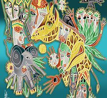 giraffe by arteology