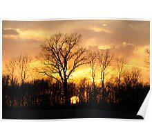 Farm-field Sunset Poster