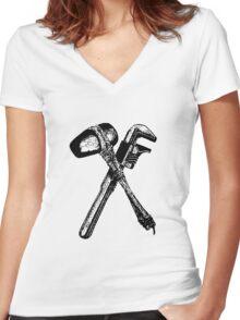 EVTattoo Women's Fitted V-Neck T-Shirt