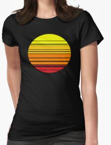 Sunset 1987 Womens Fitted T-Shirt
